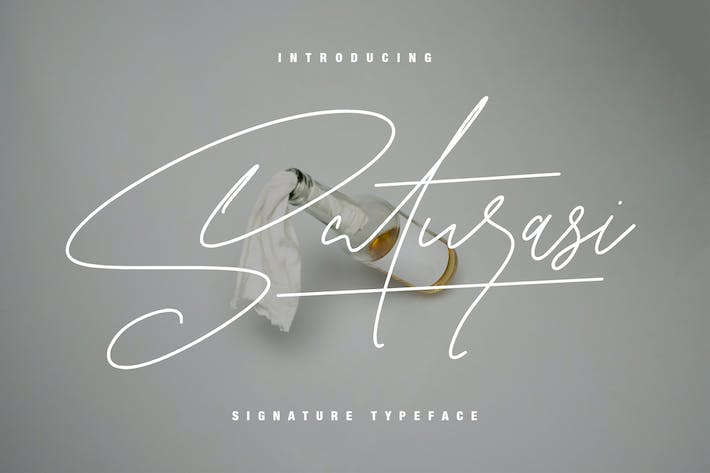 Thumbnail for Saturasi Signature Typeface