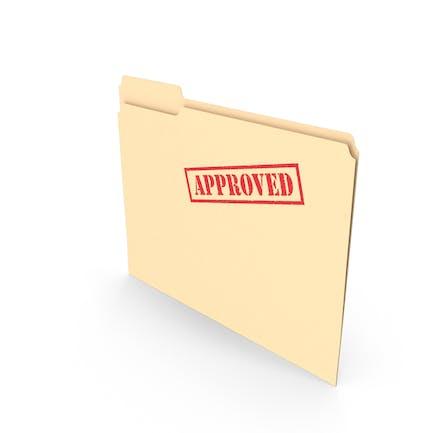 Approved Folder Empty Vertical