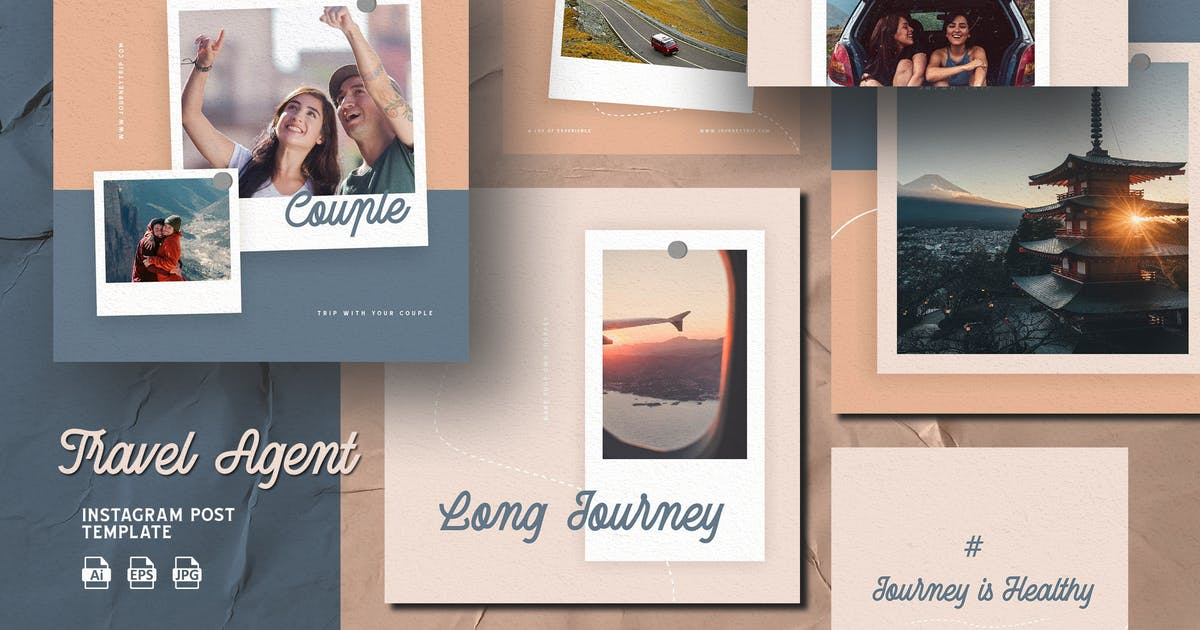 Download Modern Soft Color Travel Agent-Instagram Template by ilhamtaro