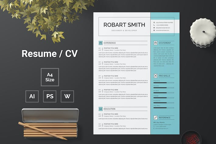 Thumbnail for Resume Template 119