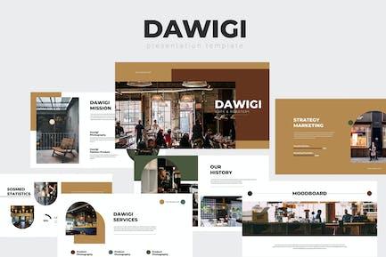 Dawigi - Шаблон Keynote кафе