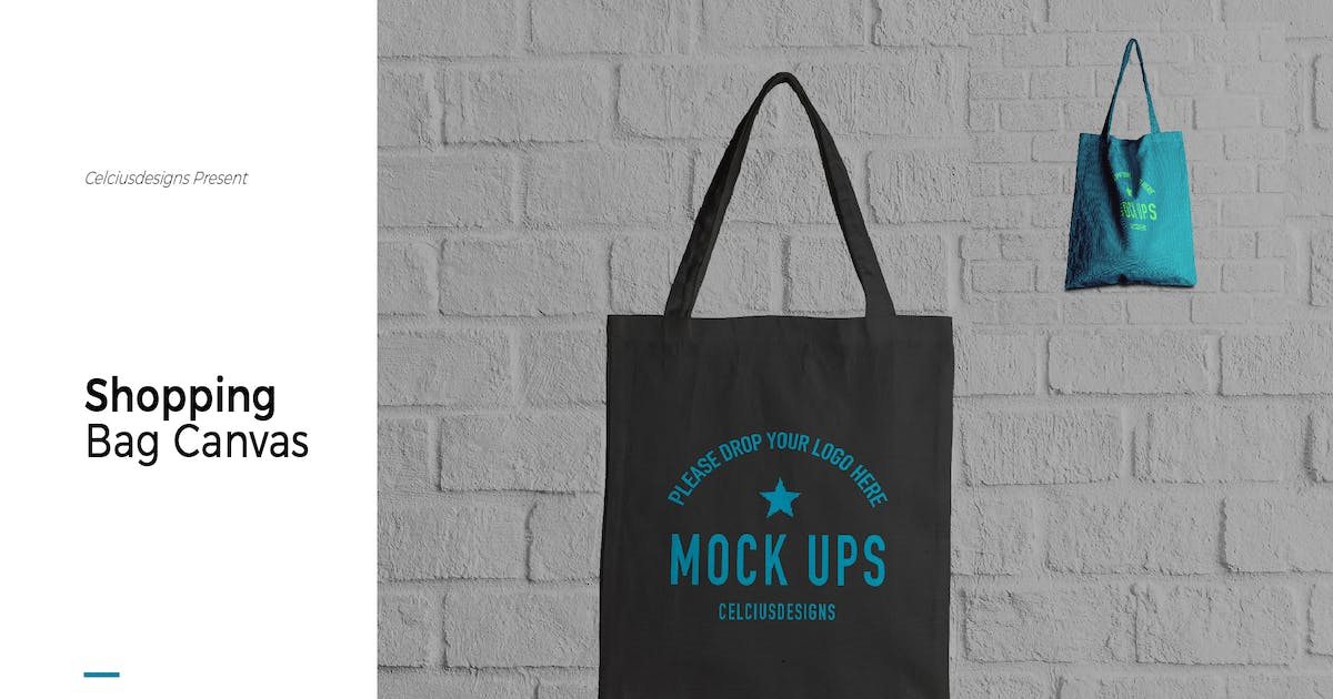 Download Sopping Bag Canvas Mock Up by celciusdesigns