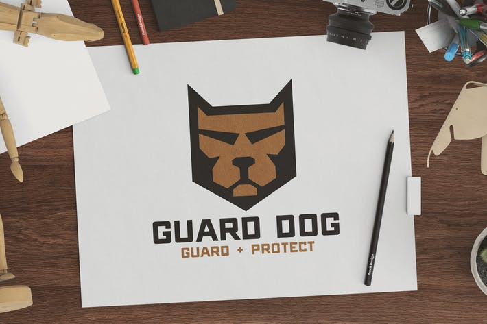 Cover Image For Guard Dog Shield Logo