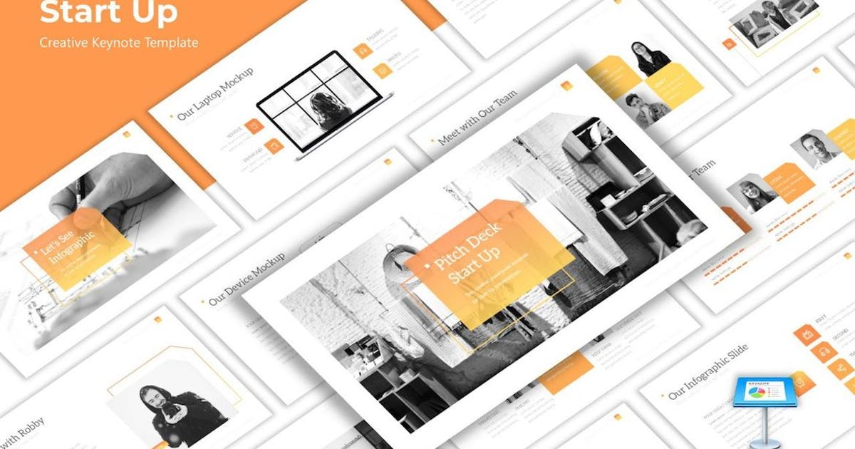 Download Pitchdeck - Creative Startup Keynote Template by CocoTemplates