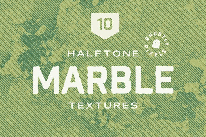 Thumbnail for Vintage Halftone Marble Textures