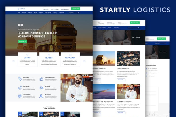 Thumbnail for Start.ly — Logistics & Cargo Bootstrap Template