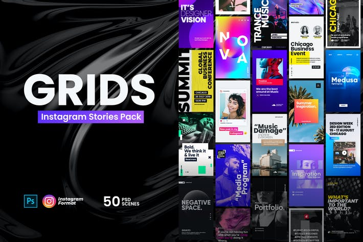 Thumbnail for Grids - Instagram Stories Pack