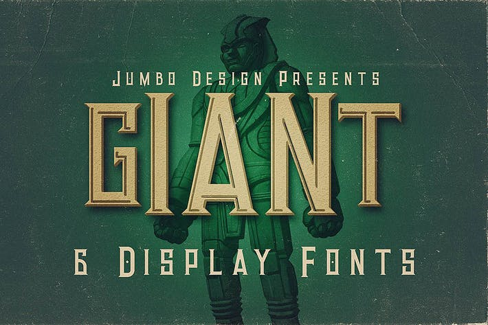Cover Image For Giant - Vintage Style Font