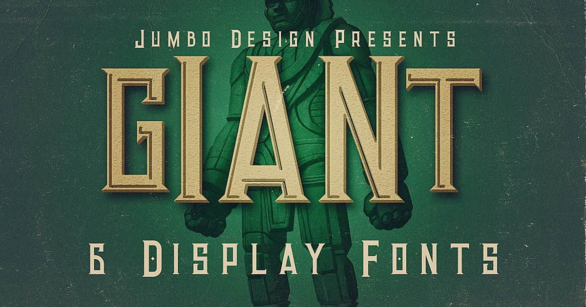 Download Giant - Vintage Style Font by cruzine