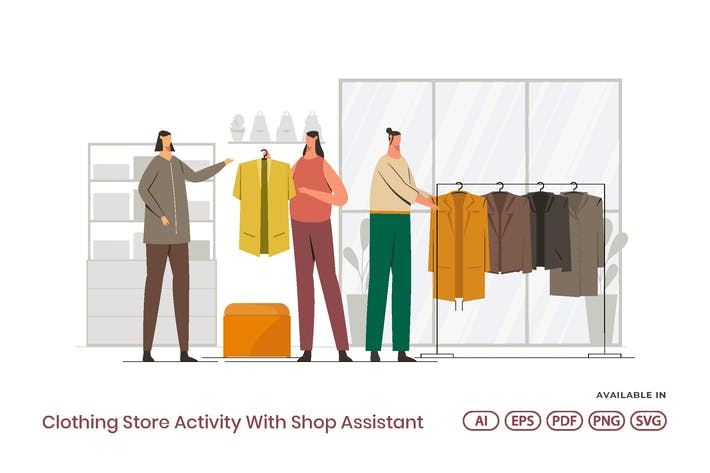 Thumbnail for Clothing Store Activity With Shop Assistant
