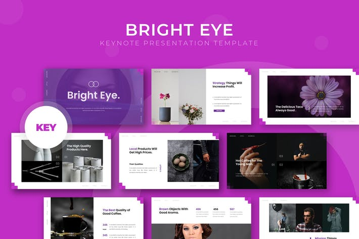 Thumbnail for Bright Eye - Keynote Template