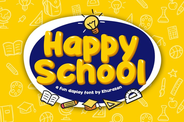 Thumbnail for Happy School Font
