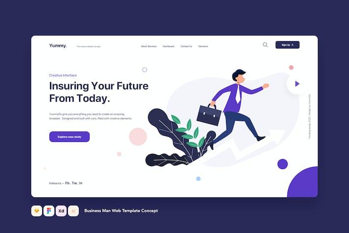 Thumbnail for Концепция веб-Шаблон бизнес-человек