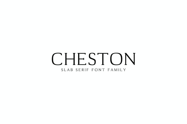 Thumbnail for Cheston Slab Serif Font Family Set