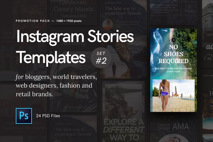 Thumbnail for Instagram Stories — Promotion Pack (Set 2)