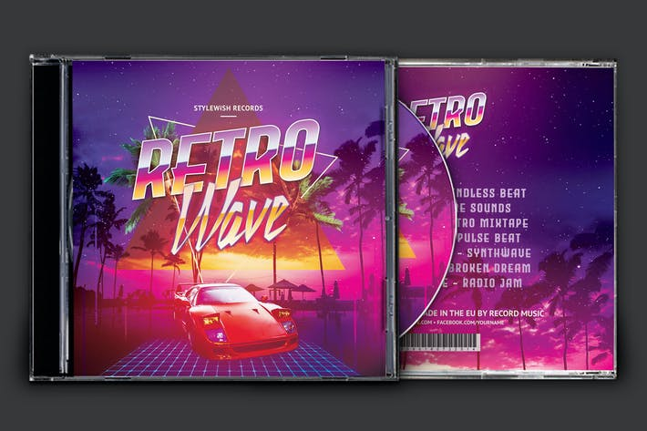 Thumbnail for Retro Wave Cover Oeuvre de CD