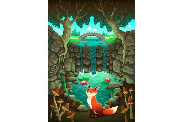 Thumbnail for The Fox Near a Pond