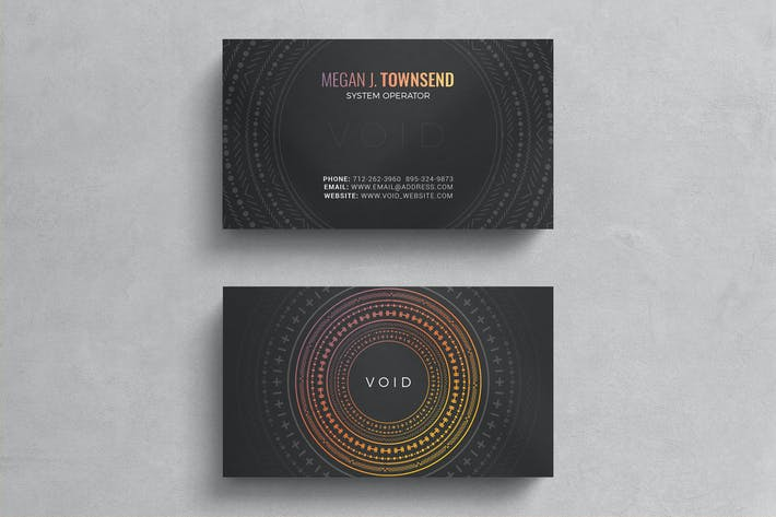 Thumbnail for Minimal hologram business card template