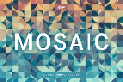 Mosaic   Abstract Gradient Backgrounds   Vol. 01