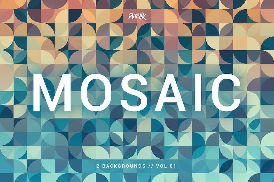 Mosaik | Abstrakte Gradient Hintergründe | Vol. 01