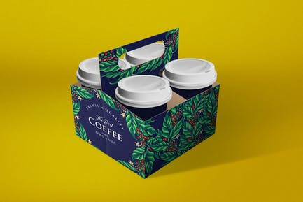 Coffee Cup Holder Mockup