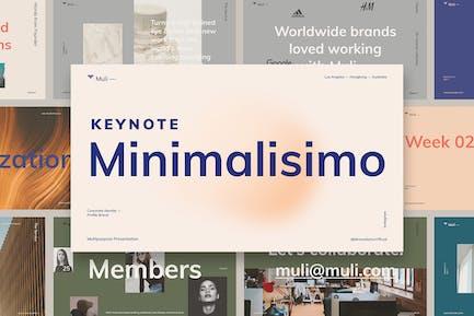 Modèle de Keynote minimaliste Muli™