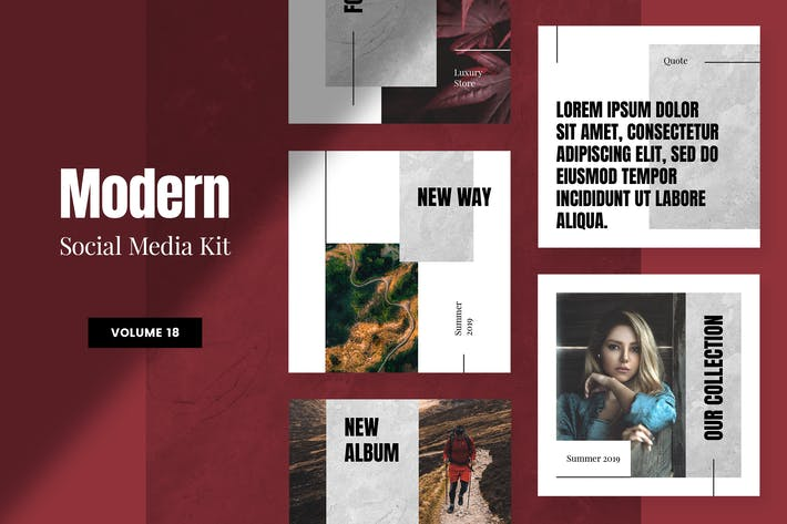 Thumbnail for Modern Social Media Kit (Vol. 18)