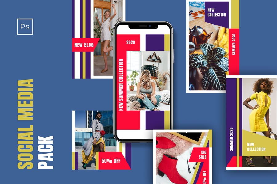 Templates for Instagram - Stories & Posts - Vol.5