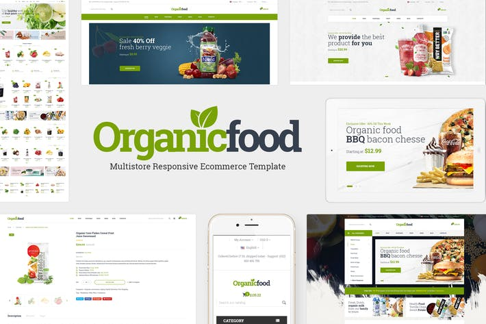 Thumbnail for OrganicFood - Organic, Food, Alcohol, Prestashop