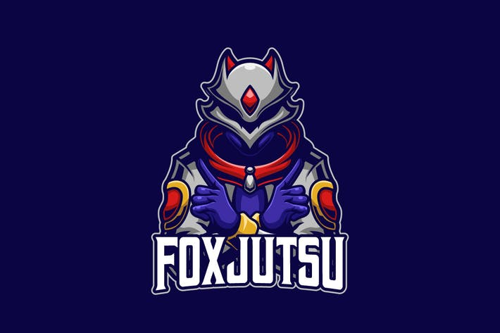 Thumbnail for Fox Jutsu E-sports Logo Template
