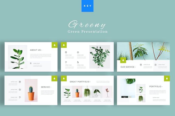 Thumbnail for Greeny - Green Keynote Presentation Template
