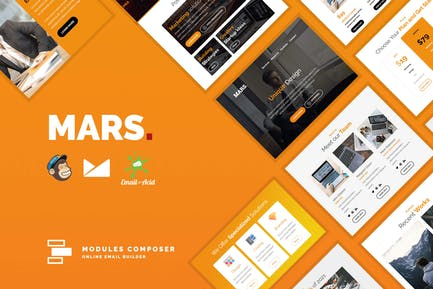 Mars - Responsive Email Template for Startups