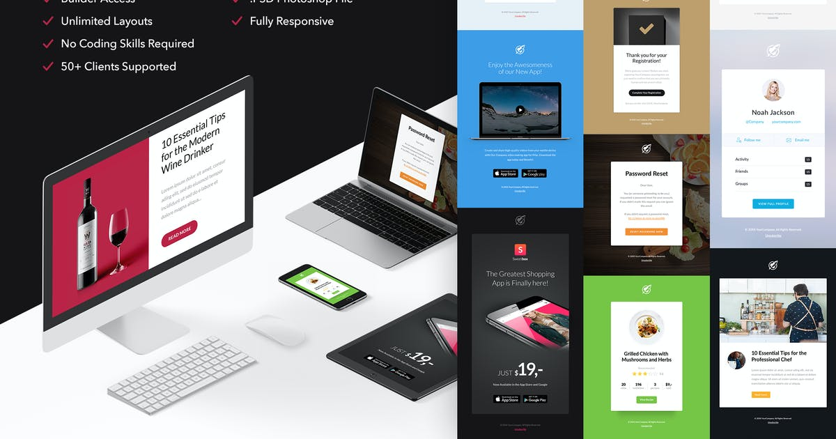 Download Notify3 - 10 Emails + Themebuilder Access by RocketWay