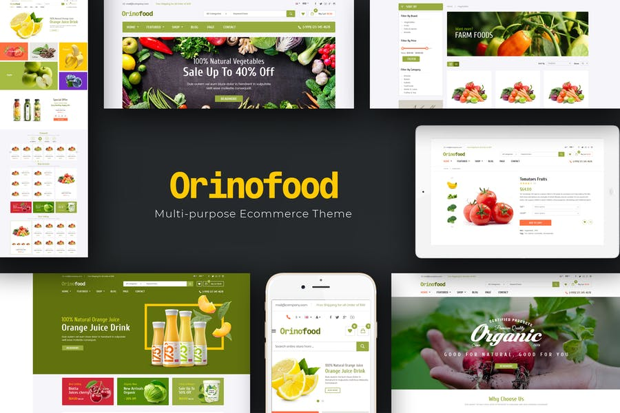 Orinofood - Organic Opencart Theme - product preview 0