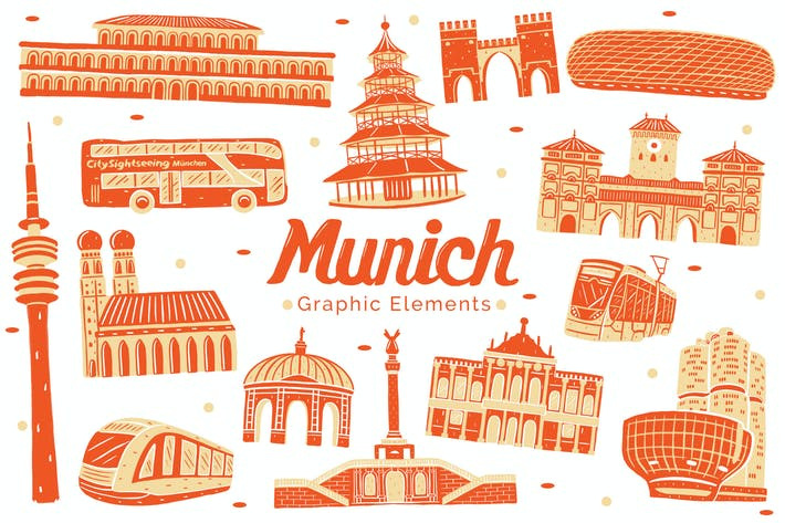 Thumbnail for Munich Landmark Graphic Elements