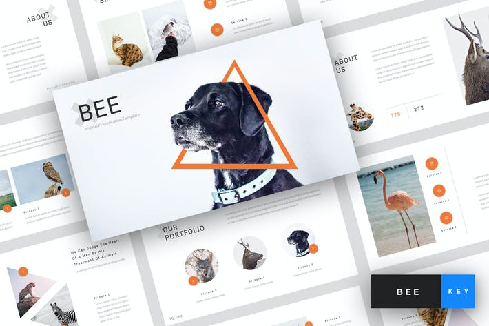 Thumbnail for Bee - Animal Keynote Template