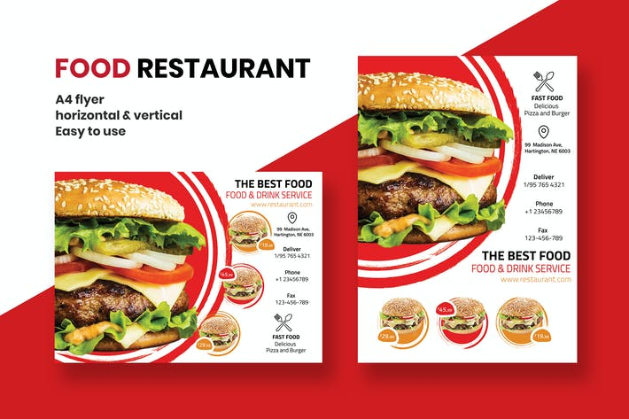 Thumbnail for Restaurant & Food dépliant