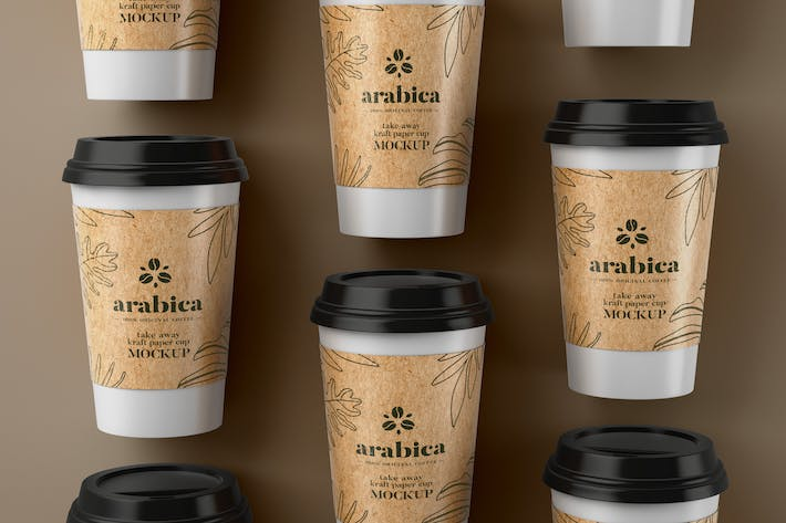 Thumbnail for Take Away Paper Coffee Cup Mockup
