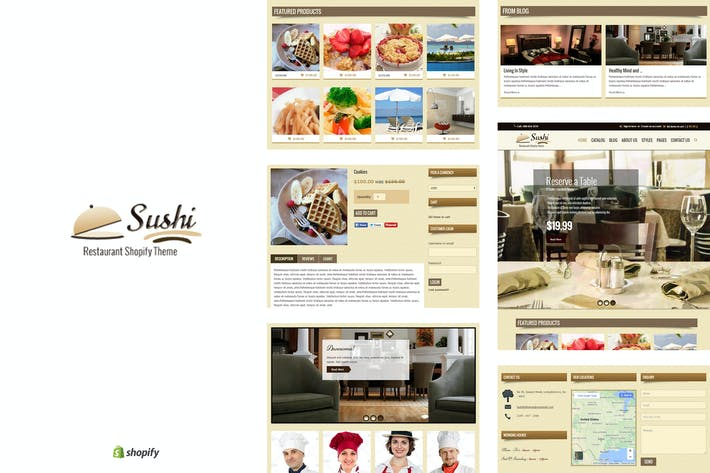 Thumbnail for Sushi - Food & Restaurant Shopify Thème