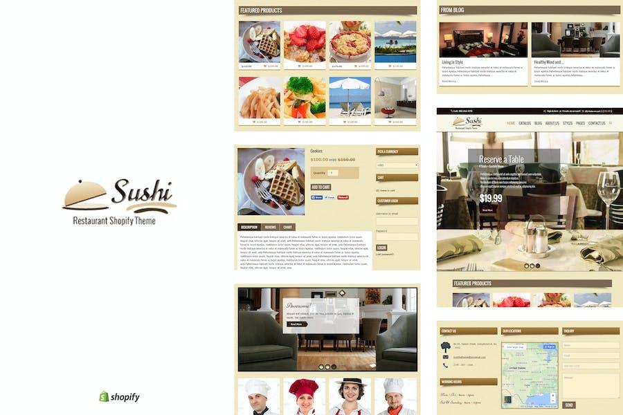 Sushi - Comida y Restaurante Tema Shopify