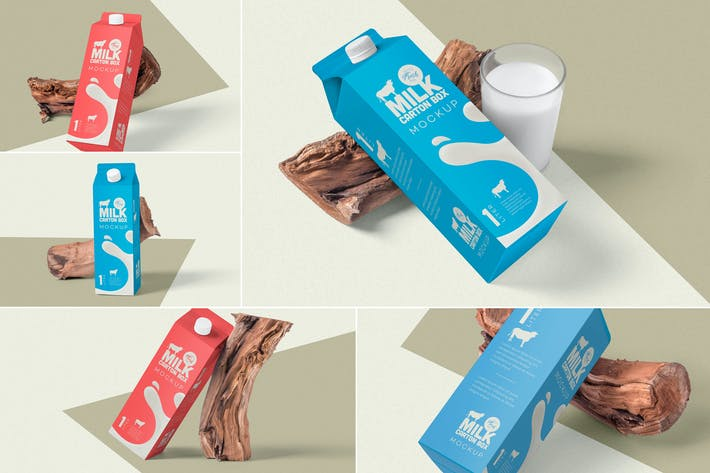 Thumbnail for Juice Carton Box Packaging Mockups