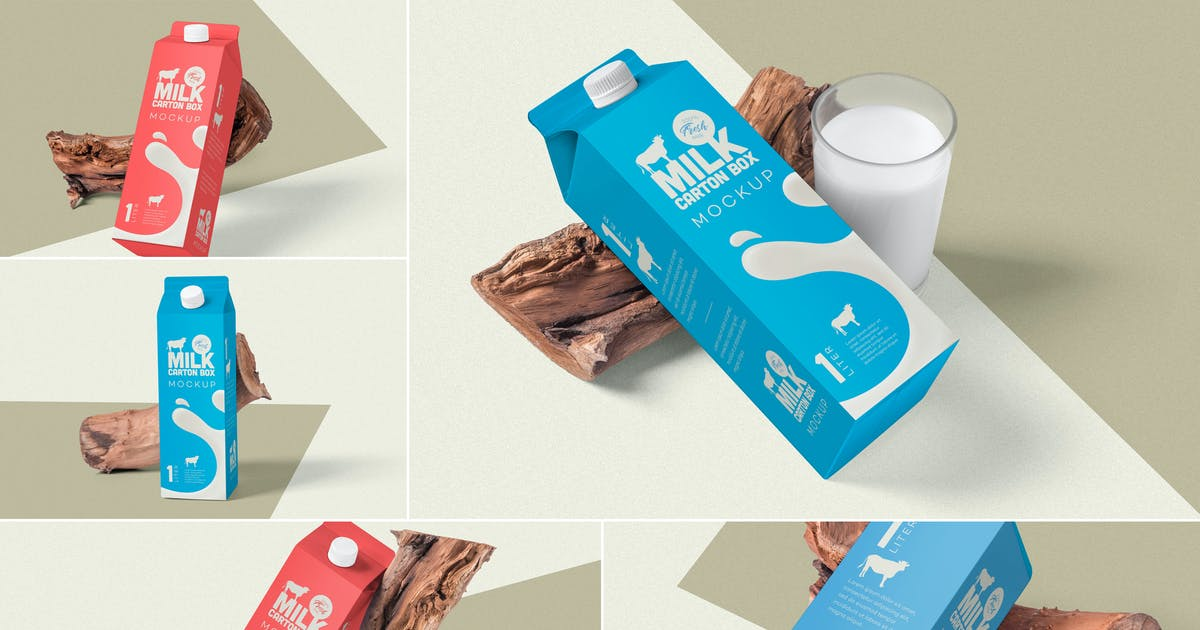Download Juice Carton Box Packaging Mockups by zippypixels