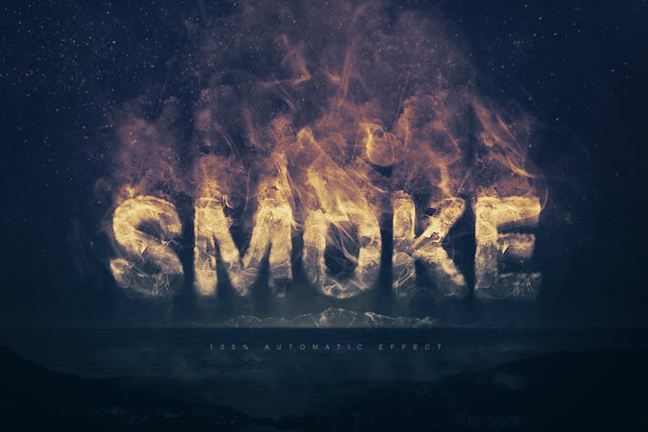 Cover Image For Smoke Logo Text Effect
