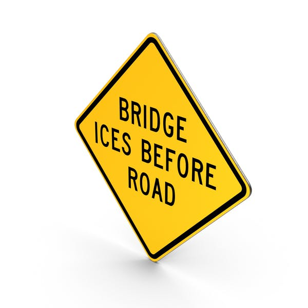 Cover Image for Bridge Ices Before Road Sign