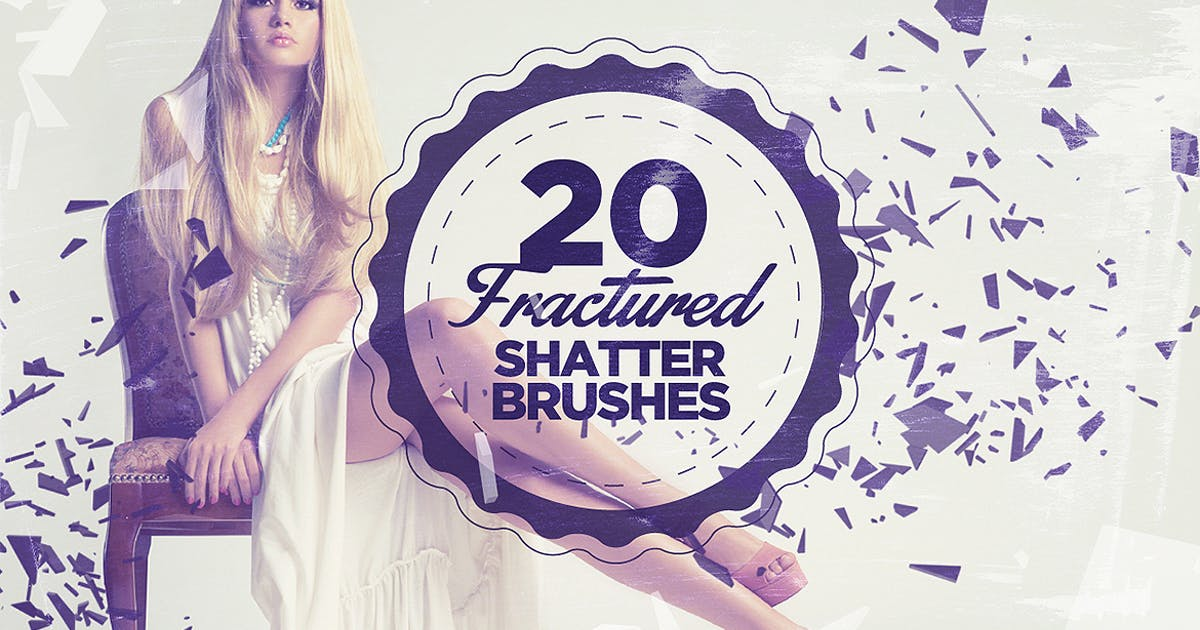 Download 20 Fractured Shatter Brushes by Layerform