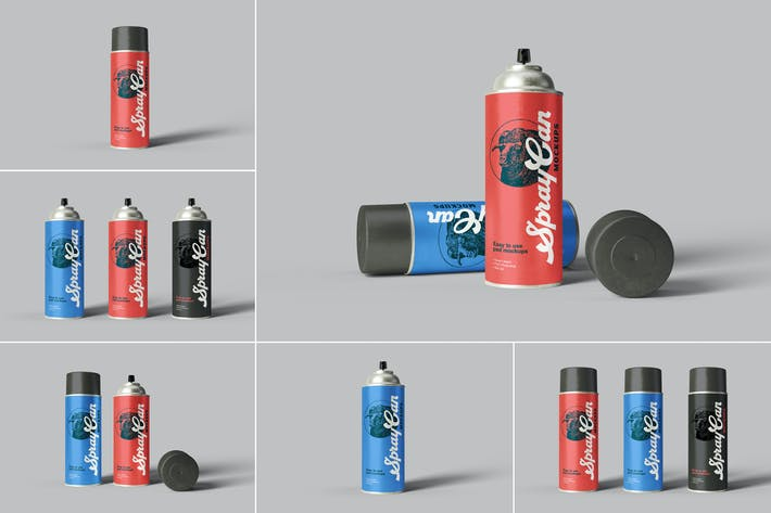Cover Image For Spray Can Mockups