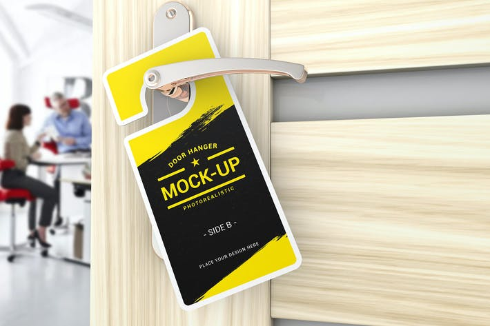 Cover Image For Door Hanger Mockups