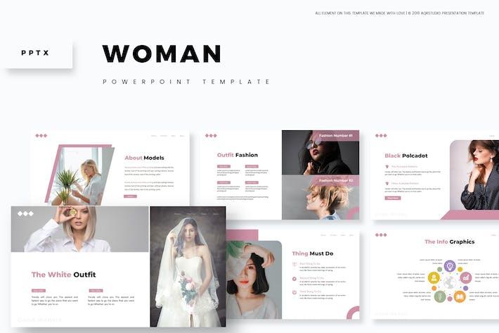 Женщины - Powerpoint Шаблон