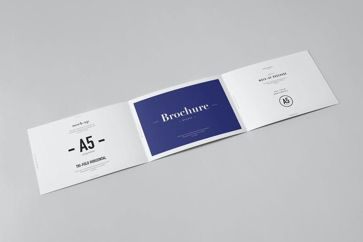 Thumbnail for Horizontal Tri-Fold A5 Brochure Mock-up