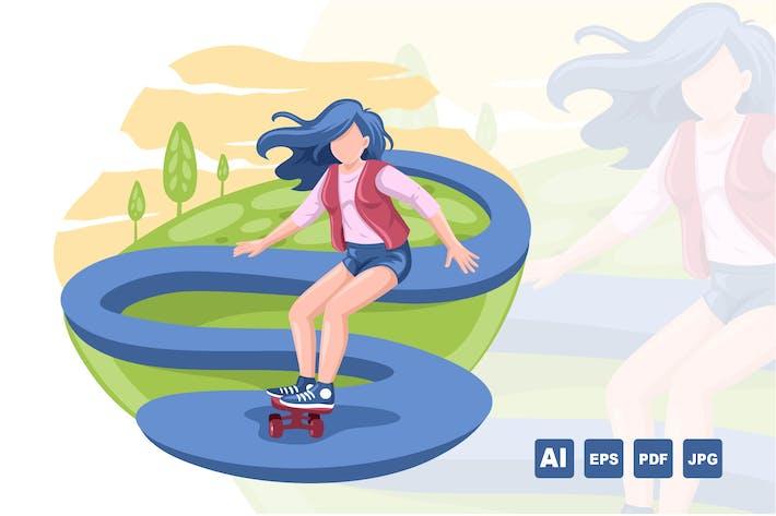 Thumbnail for SKATER GIRL - Vector